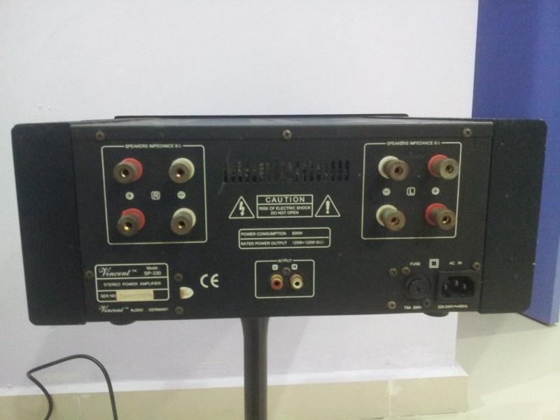 vincent sp 330 germany stereo power amplifier used. Black Bedroom Furniture Sets. Home Design Ideas