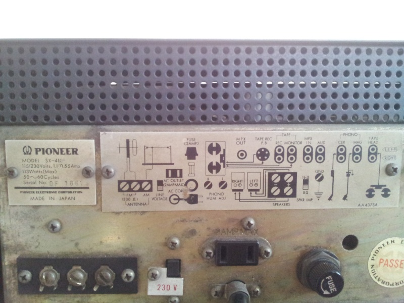 Vintage Pioneer Sx 410 Fully Valve Tube Stereo Integrated