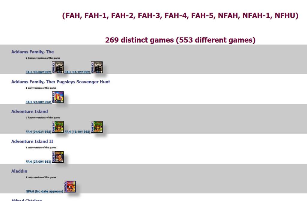 Gameboy database - Réouverture 0111