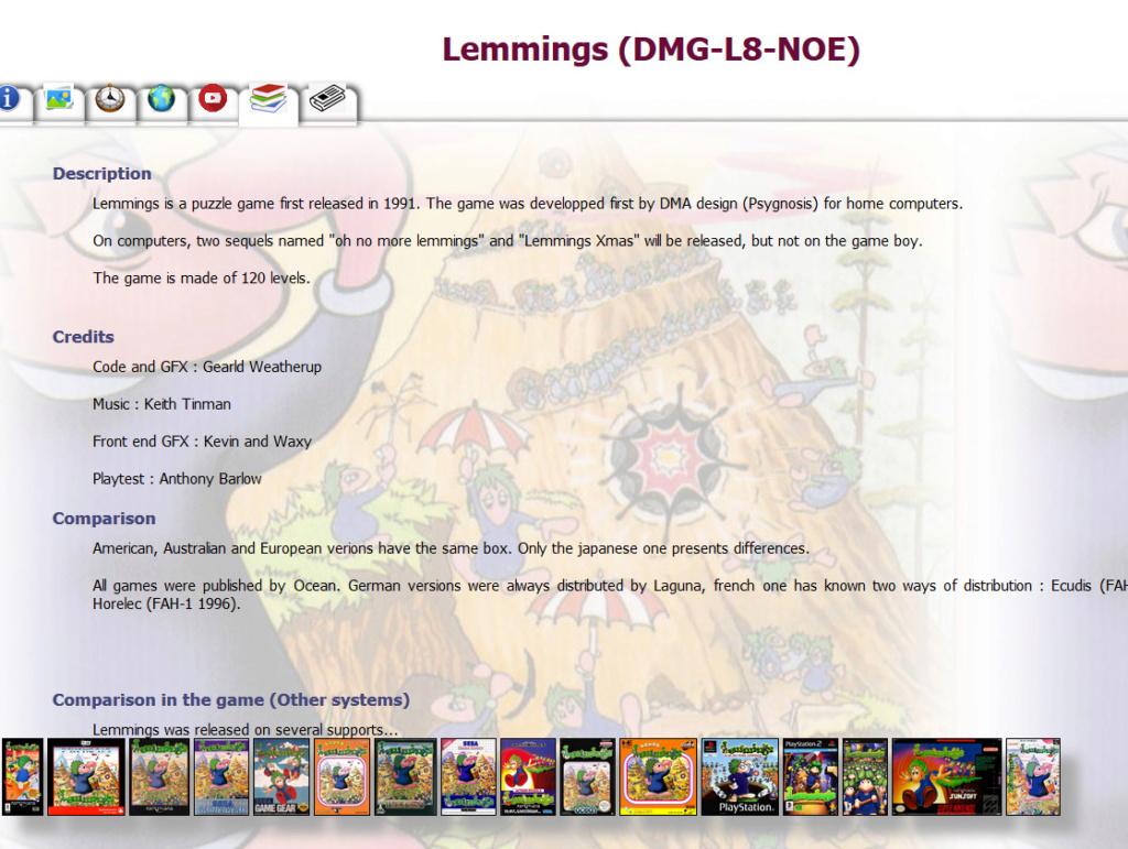 Gameboy database - Réouverture 0810