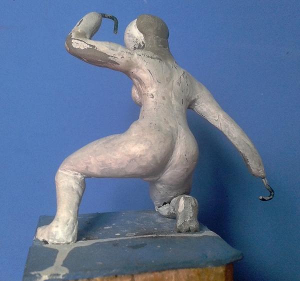 Eigenbau Amazone 11cm Figur011