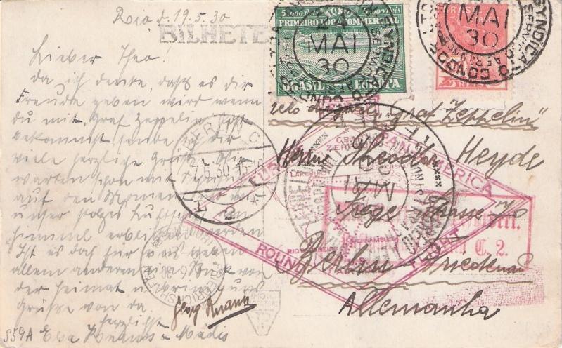 """Südamerikafahrt 1930 (Rundfahrt-) Post nach Friedrichshafen"""" - Seite 6 Rio_st10"""