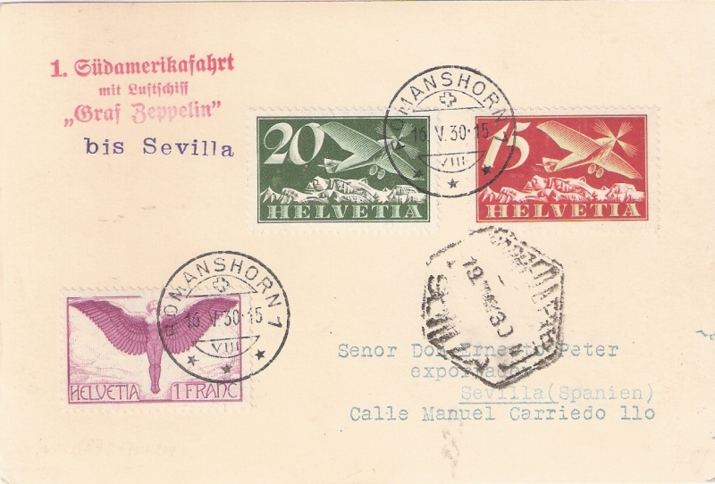 nach - Südamerikafahrt 1930, Post nach Sevilla - Seite 2 Schwei11