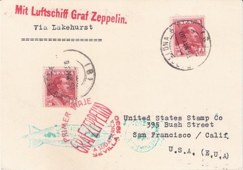 nach - Südamerikafahrt 1930, Post nach Lakehurst - Seite 4 Span_l10