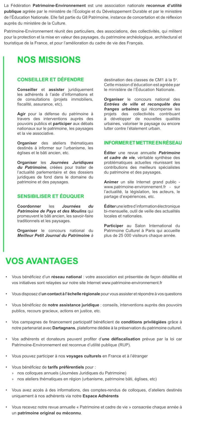 Patrimoine et Environment Avanta10
