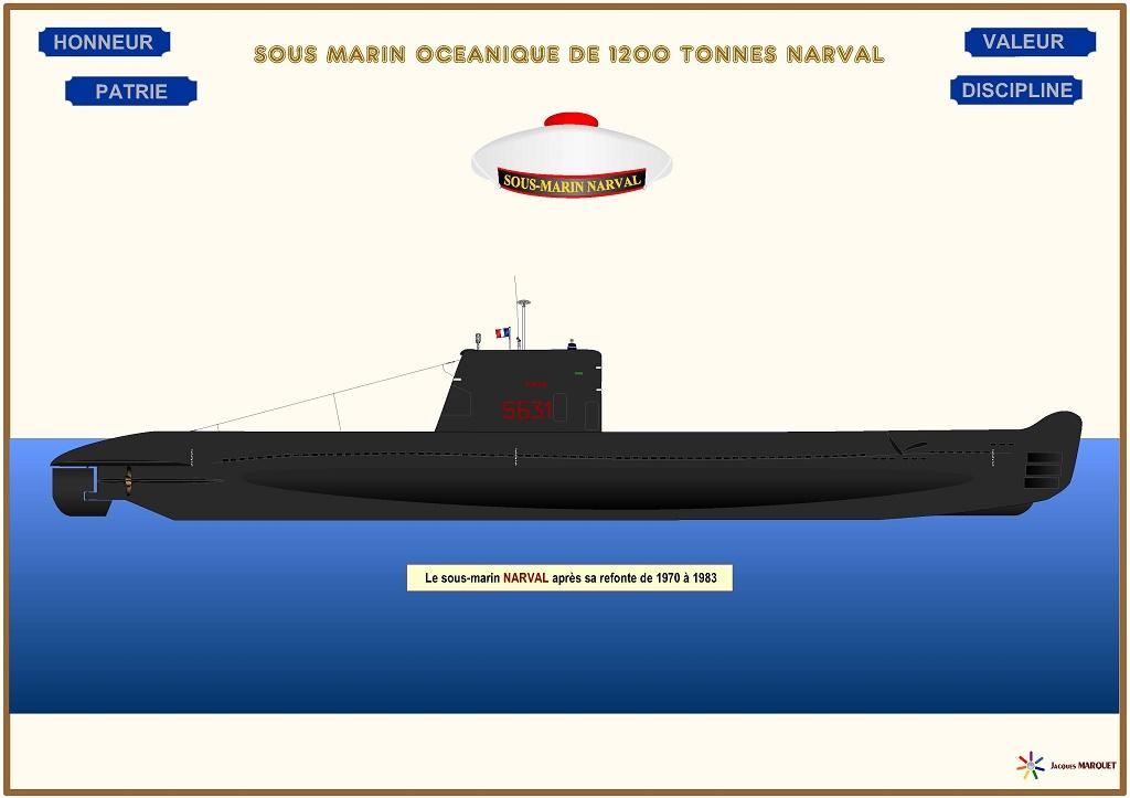 FRANCE SOUS MARINS CLASSE NARVAL Narval12