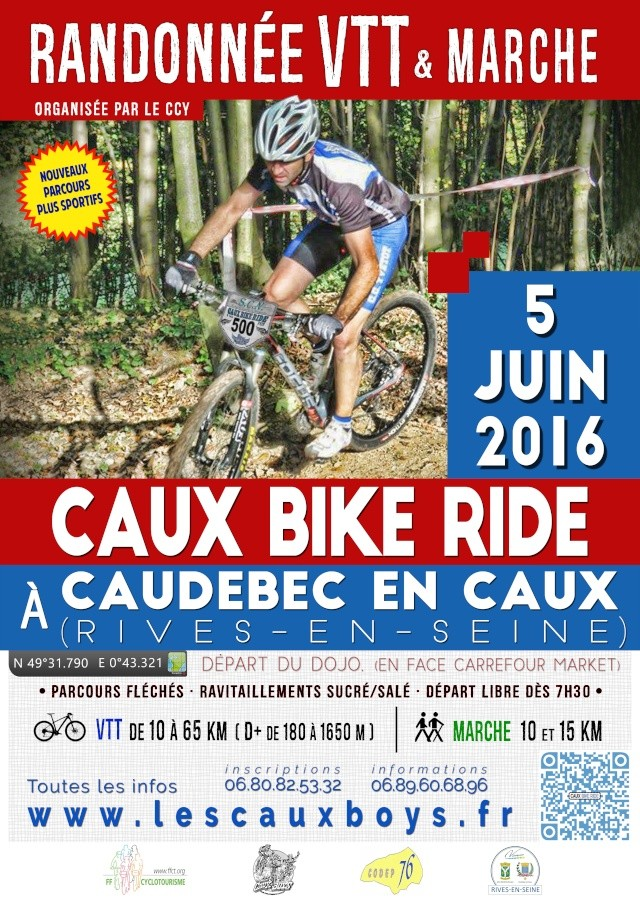 [05 juin 2016] 5ème Caux Bike Ride Affich11