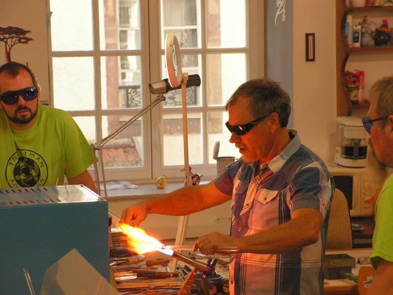 Stages pour apprendre la verrerie sculptée au chalumeau 10313110
