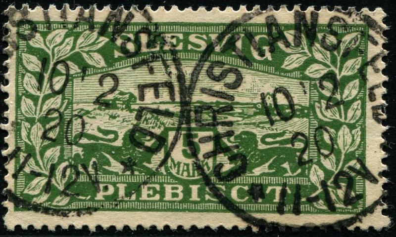 Zone - Abstimmungsgebiet Schleswig Abstempelungen Zone 1 (Deutsche Stempel) Stempe11