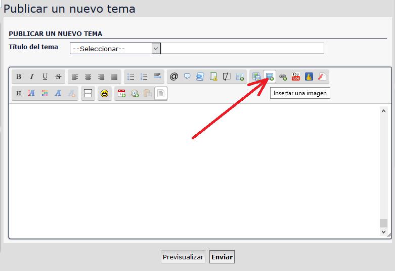 Cómo publicar un mensaje con imagen Insert10