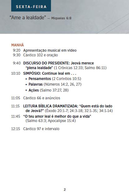 Congresso 2016 - CONTINUE LEAL A JEOVÁ P210