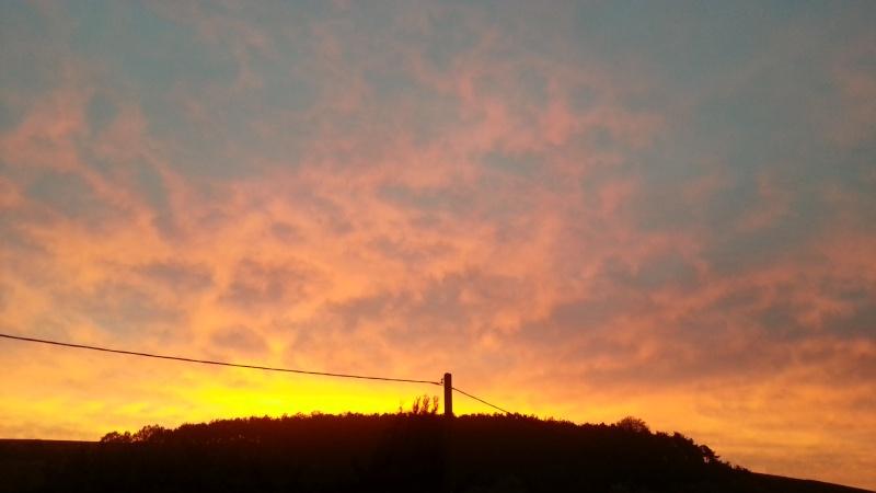 Nature : arc en ciel & lever/coucher de soleil 20151010