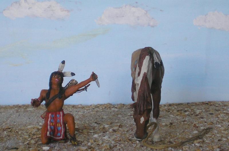 Bemalungen, Umbauten, Modellierungen – neue Indianer für meine Dioramen - Seite 5 Diedho12