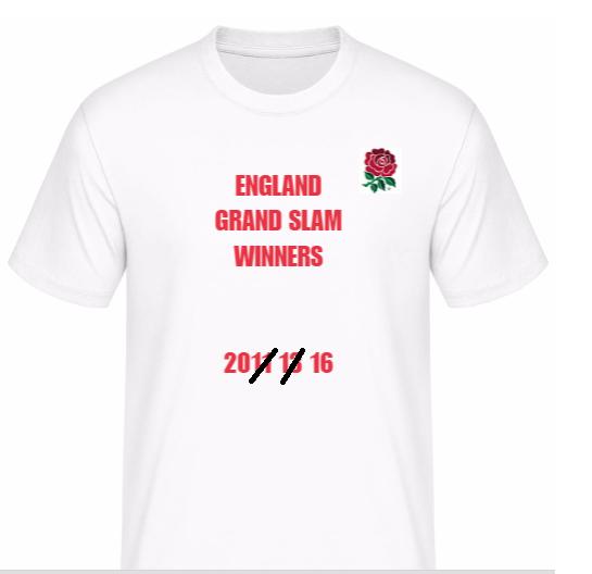 All the old England Grand Slam T-shirts finally go on sale. Shirt10