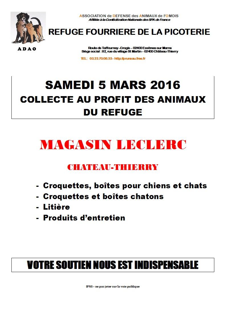 OPERATIONS CADDIES LECLERC  CHATEAU THIERRY  SAMEDI 5 MARS 2016 Micros10