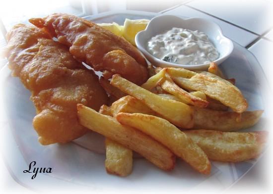 Fish & chips, sauce tartare aux câpres Fish310