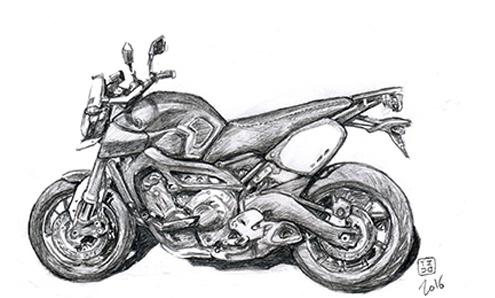 un autre aspect de la passion moto  Dessin13