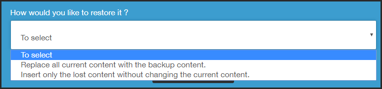 How does a backup work ? 31-01-13