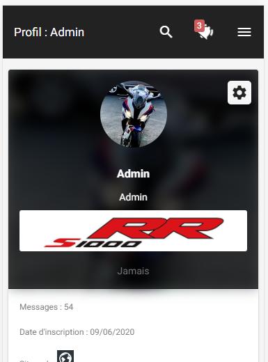 Botão de enviar MP no perfil na versão móvel Mob12