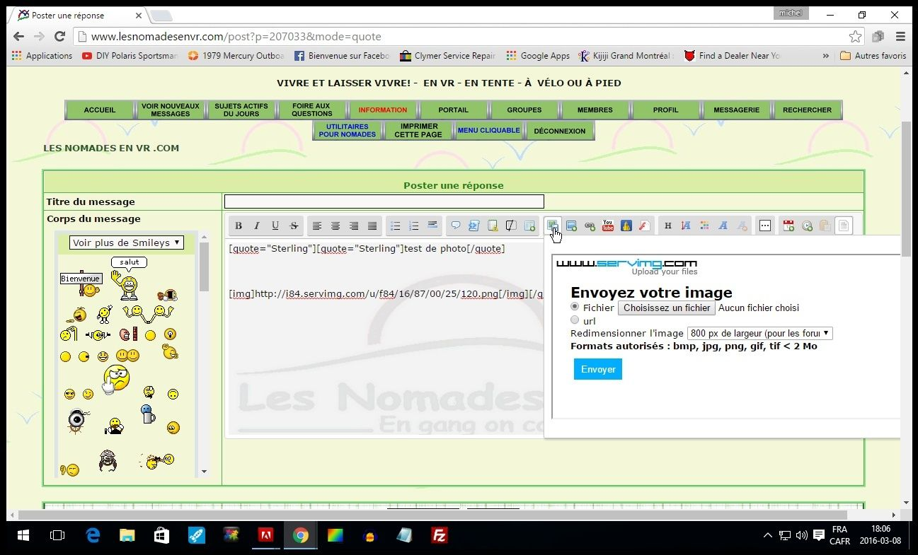 Nouveauté Servimg: Le multiupload, le Drag & Drop et l'insertion directe dans les messages sont enfin arrivés !  - Page 2 Screen13
