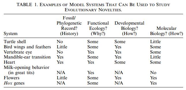 "The problem of evolutionary ""novelties"" Sem_ty10"