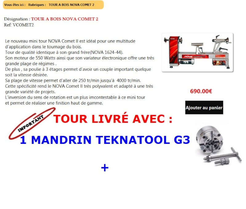 Tour a bois NOVA COMETTE 2 Tour_n10
