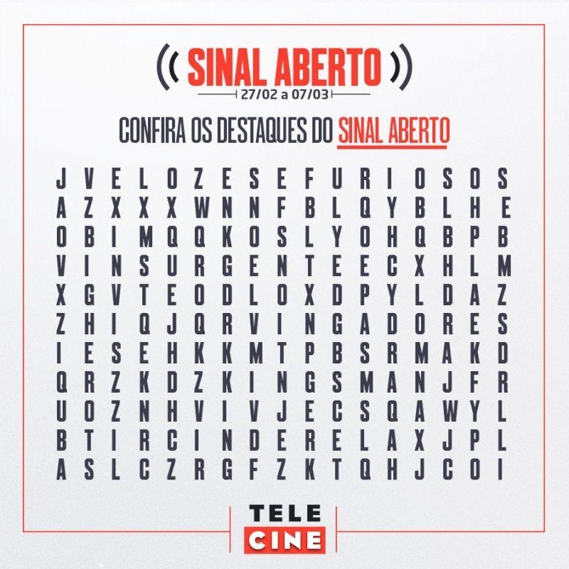 Aproveite o sinal aberto da Rede Telecine  12800210
