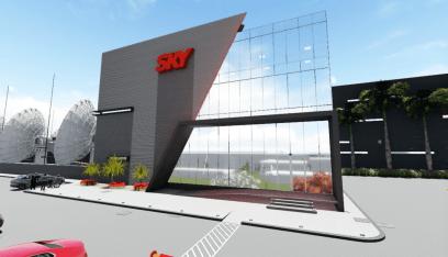 Por dentro do novo centro de transmissão da SKY Fachad10