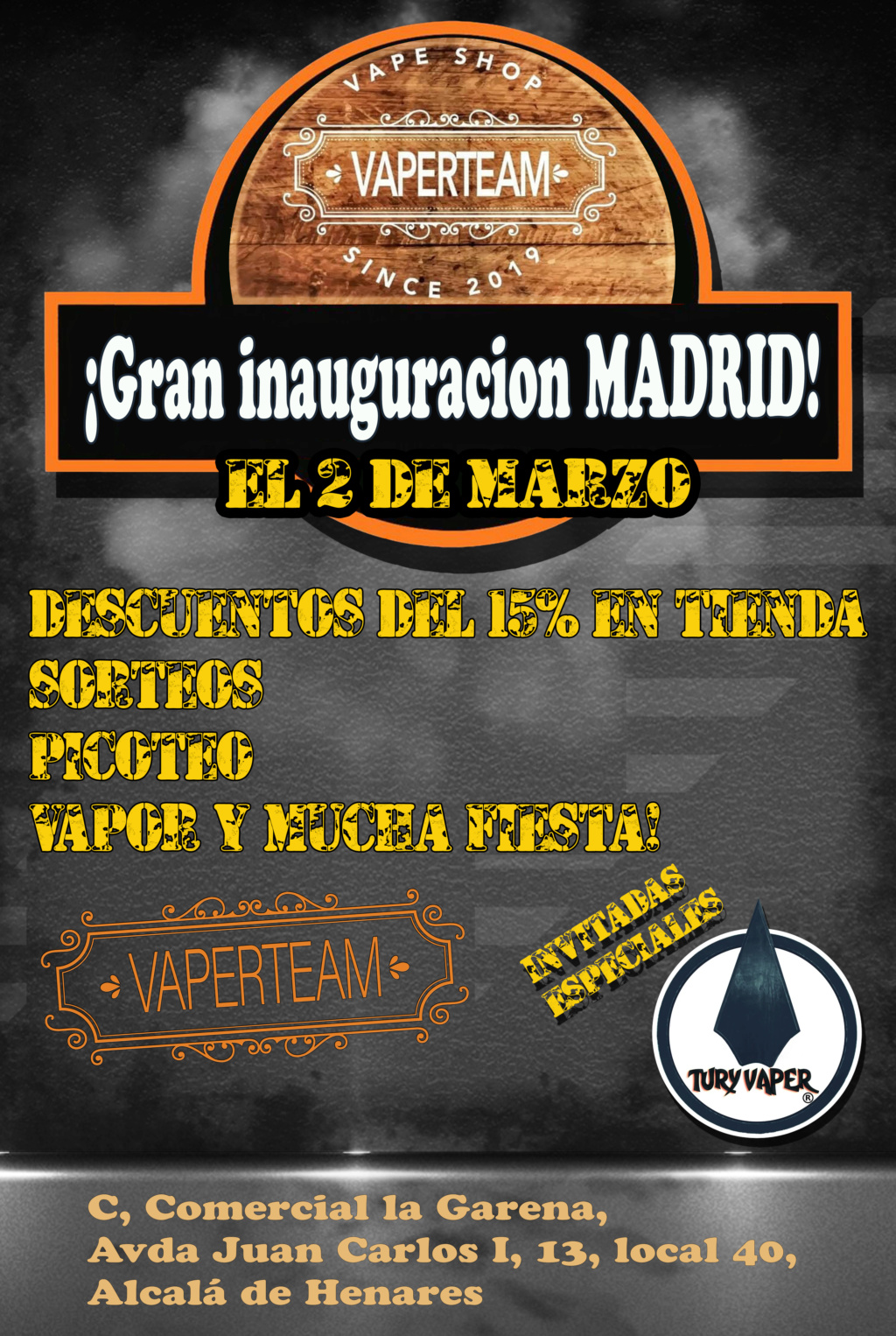 GRAN INAUGURACIÓN MADRID - No faltaremos!! Cartel10
