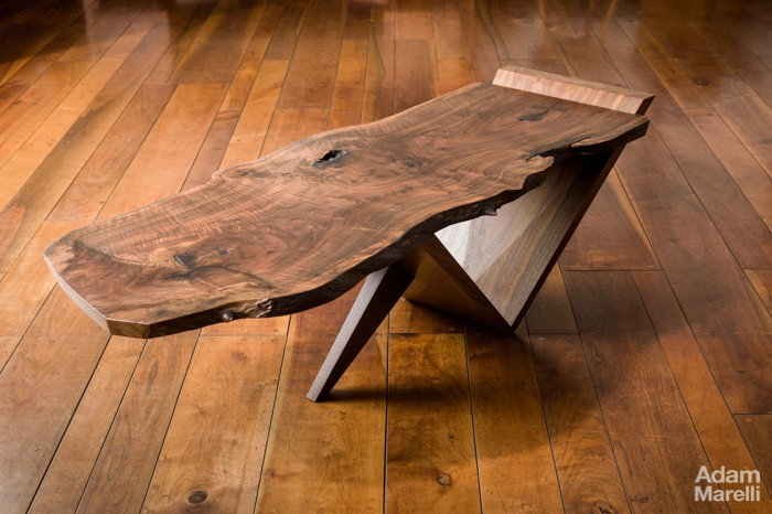 table basse en noyer Nakash10