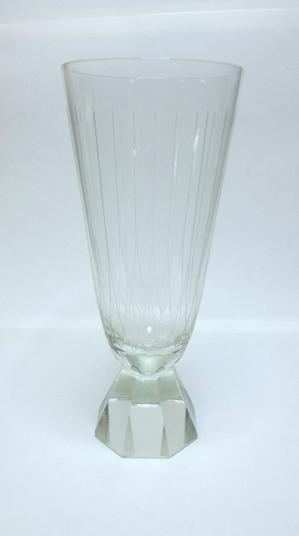 One last one - Unusual Mystery Champagne Flute in Cut Crystal .... Img_0216