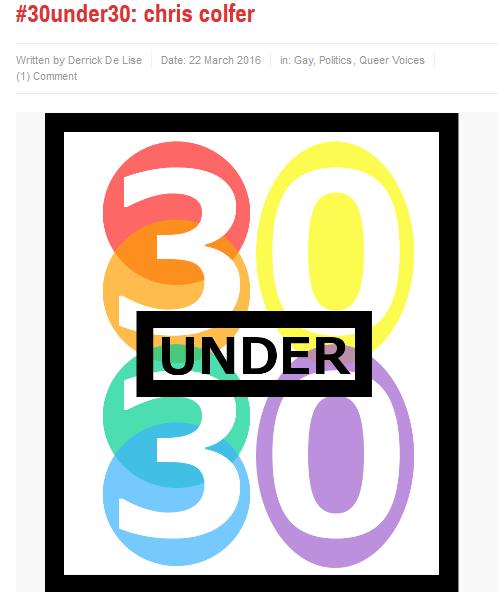 Chris Colfer Appreciation Thread!--part 9 - Page 10 30unde10