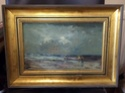 Seaside oil painting signed Cox? Image35
