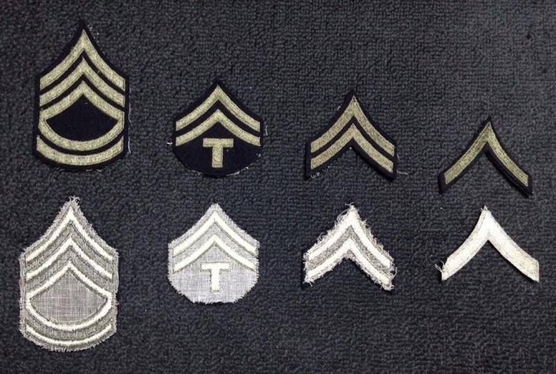 Patchs grades tissus US WW2 12787510