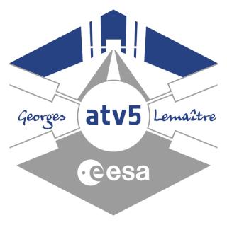 Enveloppe ayant voyagé à bord de l'ATV-5 Georges Lemaitre / la Station Spatiale Internationale et la capsule Dragon CRS-5 Atv_5_11