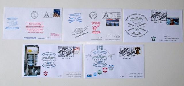 Enveloppe ayant voyagé à bord de l'ATV-5 Georges Lemaitre / la Station Spatiale Internationale et la capsule Dragon CRS-5 Atv_fl10