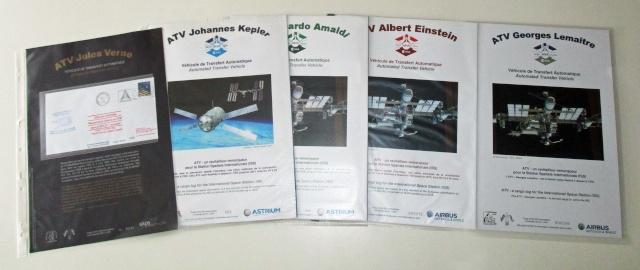 Enveloppe ayant voyagé à bord de l'ATV-5 Georges Lemaitre / la Station Spatiale Internationale et la capsule Dragon CRS-5 Atv_fl12