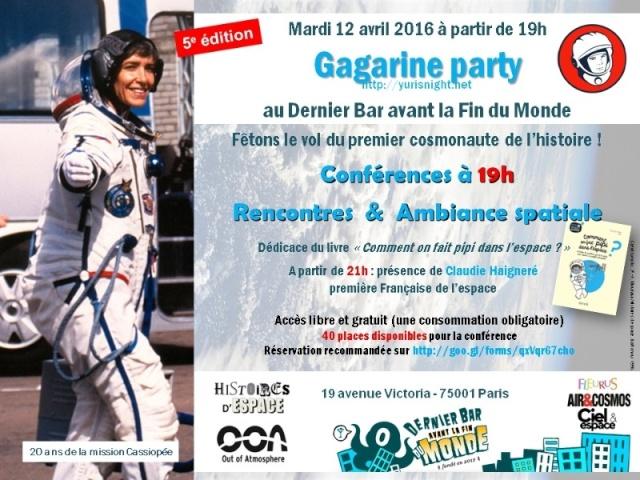 5ème édition de la Yuri's Night à Paris le 12 avril 2016 avec Claudie Haigneré (20 ans de la première française dans l'espace) Yuri_s10