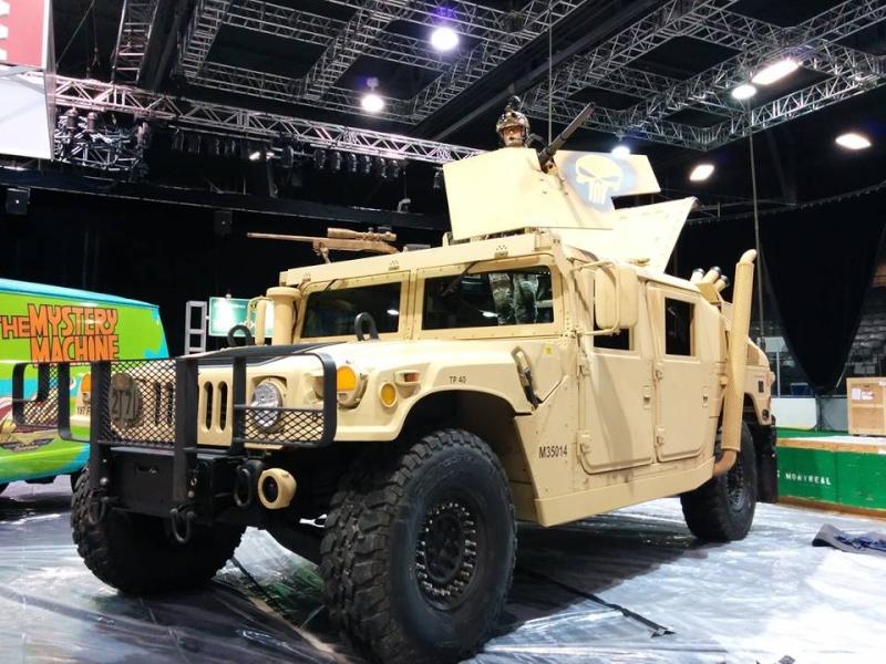 Humvee au Salon de l'Auto de Québec 1 mars - 6 mars 2016 Centre de Foires de Québec 250 boulevard Wilfrid-Hamel Québec 12803010