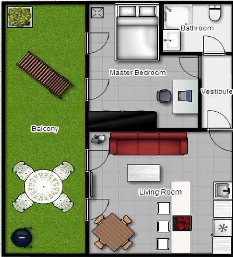 Plan de l'appartement Appart11