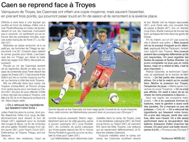 [31e journée de L1] SM Caen 2-1 ES Troyes AC 12599810