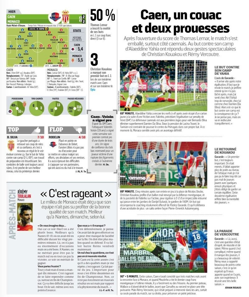 [29e journée de L1] SM Caen 2-2 AS Monaco - Page 2 27313110