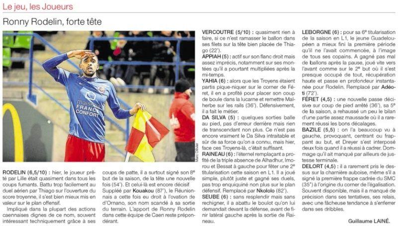[31e journée de L1] SM Caen 2-1 ES Troyes AC 50490612
