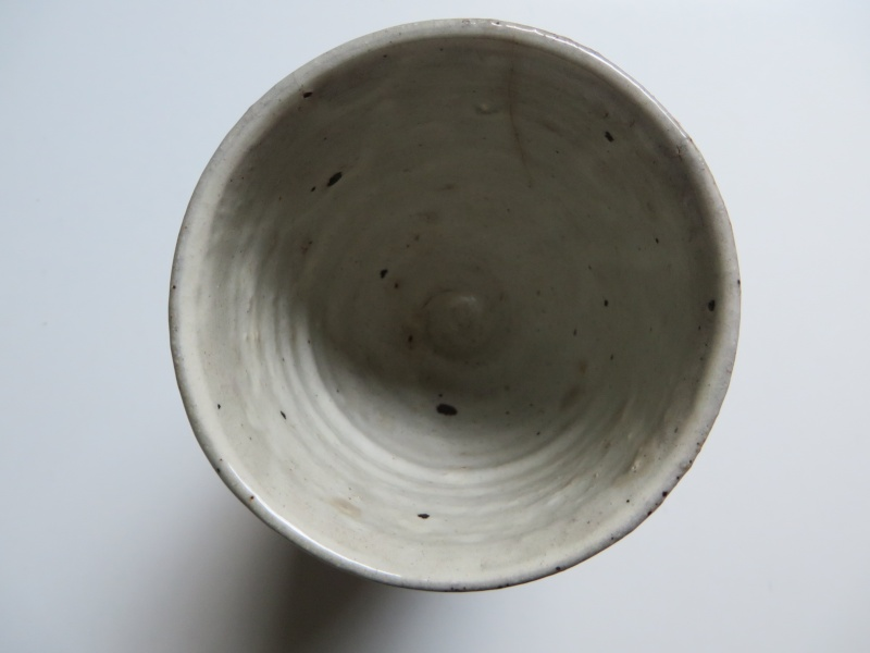 White glazed red earthenware goblet with impressed seal mark...any ideas? Img_4313