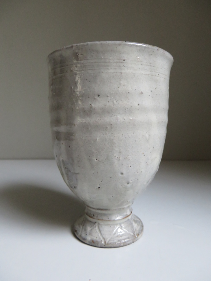 White glazed red earthenware goblet with impressed seal mark...any ideas? Img_4314