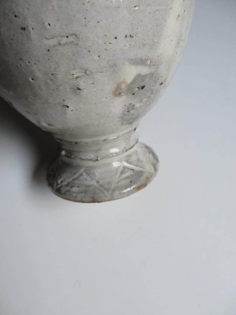 White glazed red earthenware goblet with impressed seal mark...any ideas? Img_4315