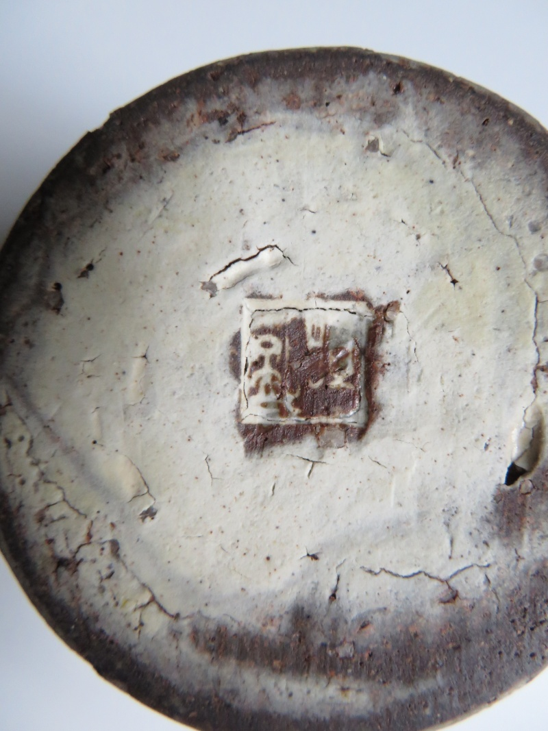 White glazed red earthenware goblet with impressed seal mark...any ideas? Img_4316