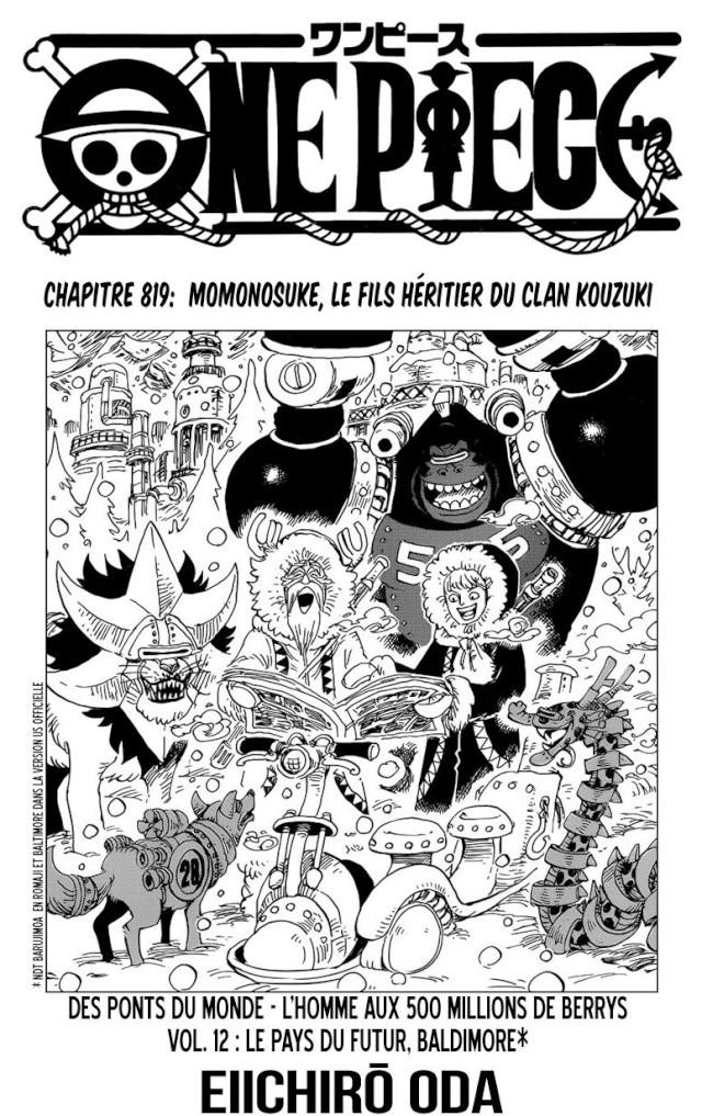 One Piece Chapitre n°819 0112