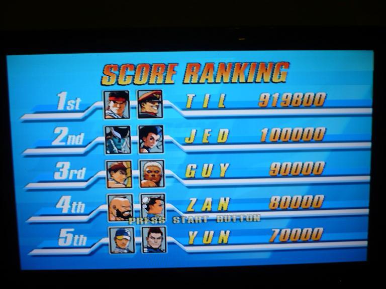 Hiscores Capcom fighting jam P1020911