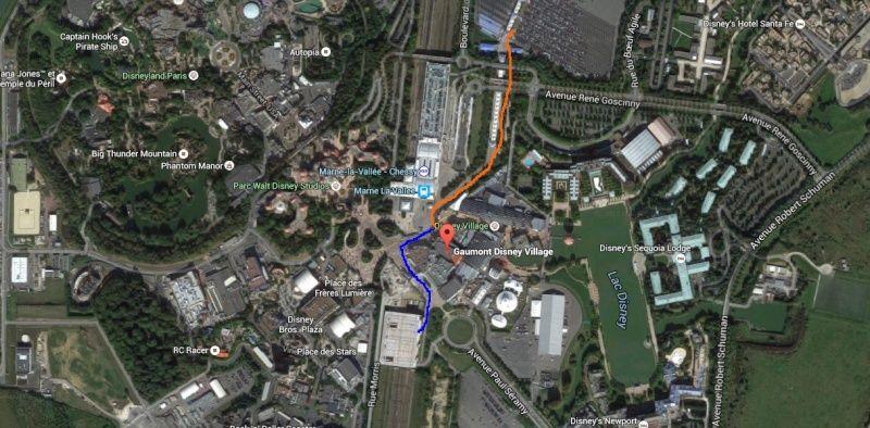 [Parkings] Où mieux se garer pour Parcs, Hôtels, Vinci Disney Village, Gare TGV/RER ? - Page 32 Trajet10